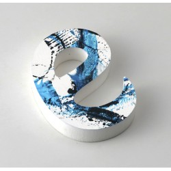 Letra de PVC con frente impreso