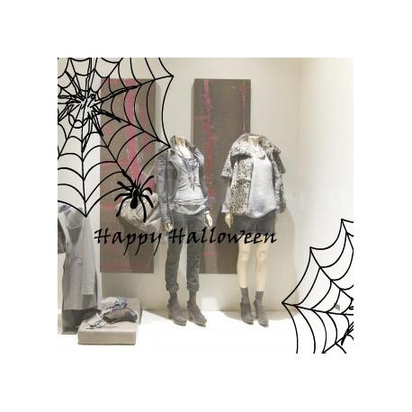 Vinilo Telas de Araña Halloween