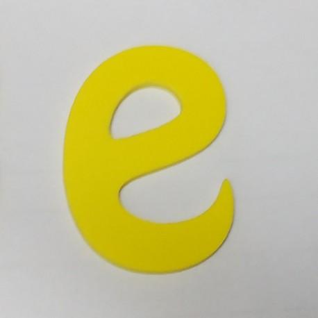 Letra de PVC de Color amarillo