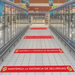 VINILO PARA SUELO DISTANCIAMIENTO SOCIAL X6 unidades