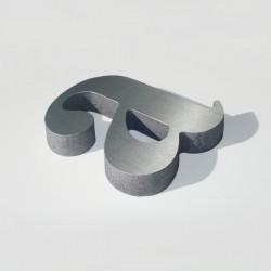 Letra de PVC con Aluminio cantos pintados