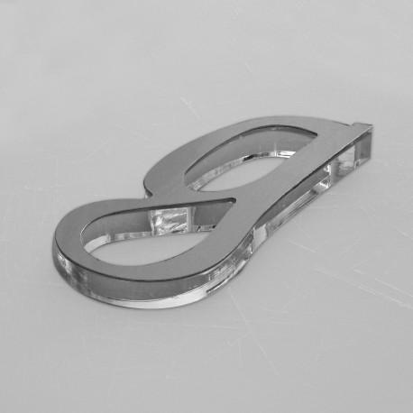 Letra Mix Metacrilato Aluminio